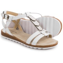 Hush Puppies Bretta Jade Sandals - Leather (For Women) in White Leather - Closeouts