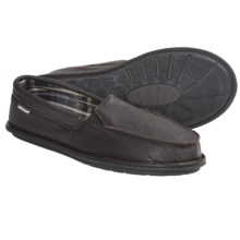 Hush Puppies Brutus Bison Slippers - Leather, Slip-Ons (For Men) in Brown - Closeouts