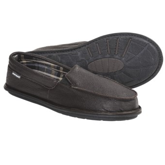 Hush Puppies Brutus Bison Slippers - Leather, Slip-Ons (For Men) in Brown