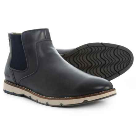 Hush Puppies Burwell Hayes Chelsea Boots - Leather (For Men) in Navy - Closeouts