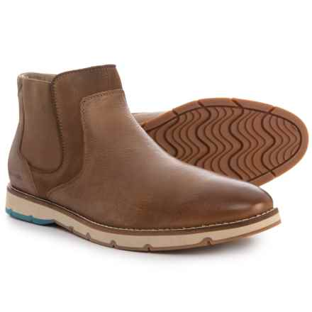 Hush Puppies Burwell Hayes Chelsea Boots - Leather (For Men) in Taupe - Closeouts