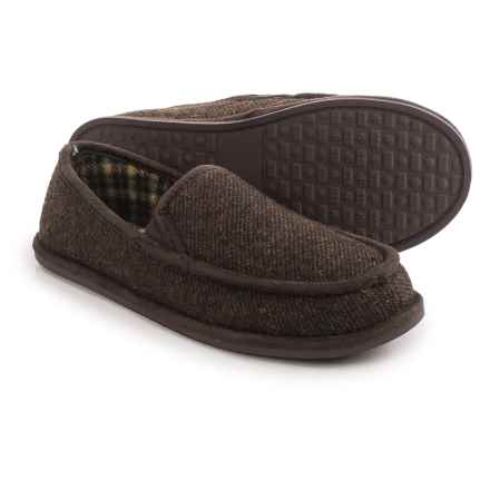 Hush Puppies Caden Slippers (For Men) in Chocolate - Closeouts