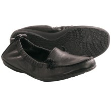 Hush Puppies Ceil Shoes - Slip-Ons (For Women) in Black Leather - Closeouts