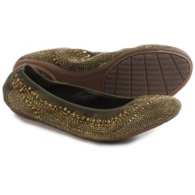 Hush Puppies Chaste Ballet Flats (For Women) in Dark Olive - Closeouts