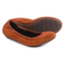 Hush Puppies Chaste Ballet Flats (For Women) in Dark Orange - Closeouts