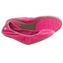 Hush Puppies Chaste Perforated Ballet Flats - Suede (For Women) in Pink - Closeouts