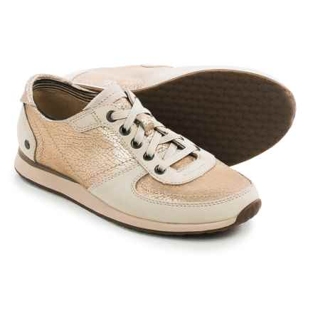 Hush Puppies Chazy Dayo Sneakers - Leather (For Women) in Light Gold Leather - Closeouts