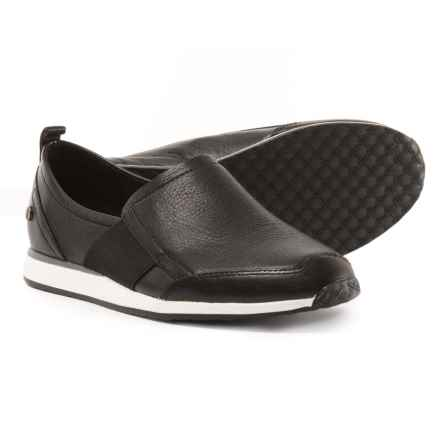 Hush Puppies Christen Dayo Shoes - Leather, Slip-Ons (For Women) in Black - Closeouts