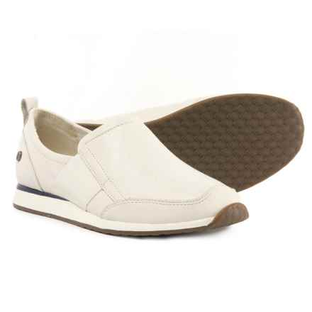 Hush Puppies Christen Dayo Shoes - Leather, Slip-Ons (For Women) in Ivory Leather - Closeouts