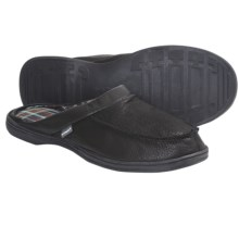 Hush Puppies Clyde Slippers - Leather, Slip-Ons (For Men) in Black - Closeouts