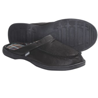 Hush Puppies Clyde Slippers - Leather, Slip-Ons (For Men) in Black