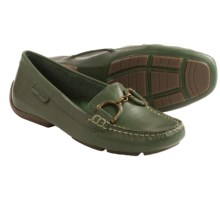 Hush Puppies Cora Loafers - Suede, Slip-Ons (For Women) in Dark Green Leather - Closeouts