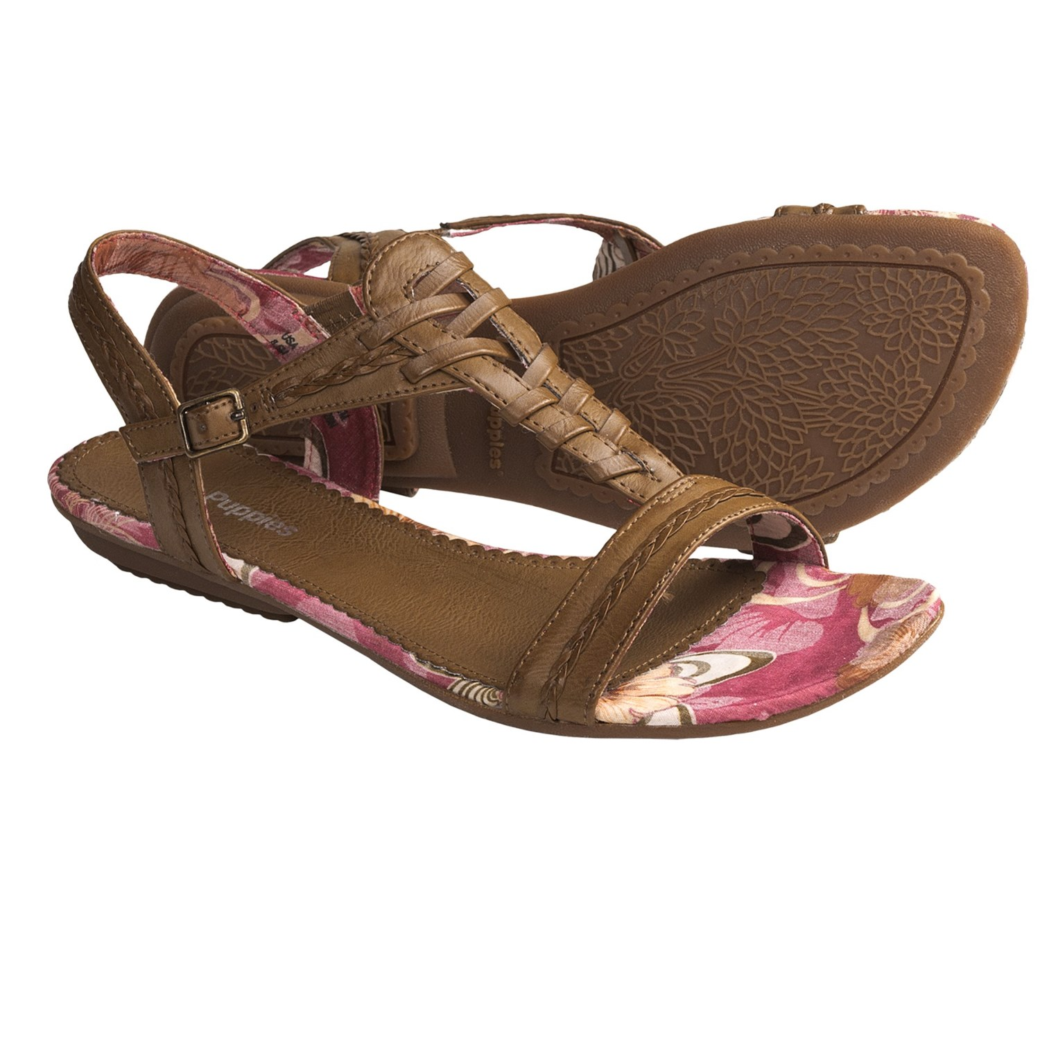 New Hush Puppies Womens Zendal Slide XBand Sandals In Taupe Leather
