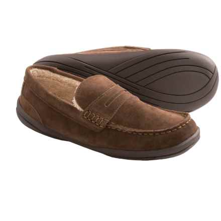 Hush Puppies Cottonwood Suede Slippers (For Men) in Brown - Closeouts