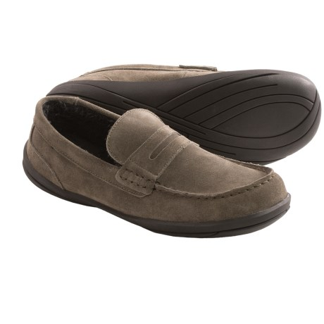 Hush Puppies Cottonwood Suede Slippers (For Men) in Grey