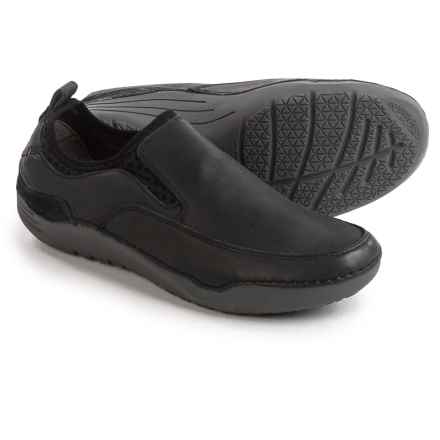 Hush Puppies Crofton Method Shoes - Leather, Slip-Ons (For Men) in Black - Closeouts