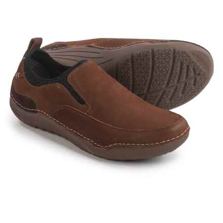 Hush Puppies Crofton Method Shoes - Leather, Slip-Ons (For Men) in Brown - Closeouts