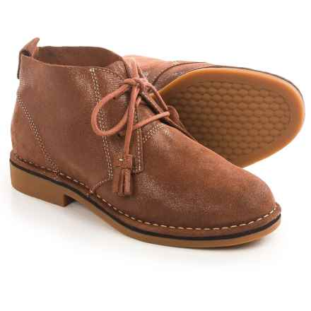 Hush Puppies Cyra Catelyn Chukka Boots - Suede (For Women) in Gold Shimmer Suede - Closeouts