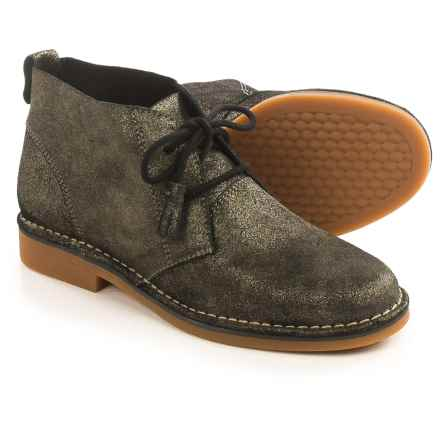 Hush Puppies Cyra Catelyn Chukka Boots - Suede (For Women) in Gunmetal Glitter Suede - Closeouts