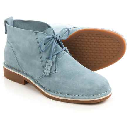 Hush Puppies Cyra Catelyn Chukka Boots - Suede (For Women) in Light Blue Suede - Closeouts