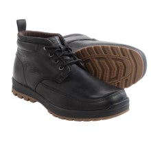 Hush Puppies Dutch Abbott Leather Chukka Boots - Waterproof, Insulated (For Men) in Black Leather - Closeouts