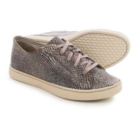 Hush Puppies Ekko Gwen Sneakers - Leather (For Women) in Black/Taupe Multi - Closeouts
