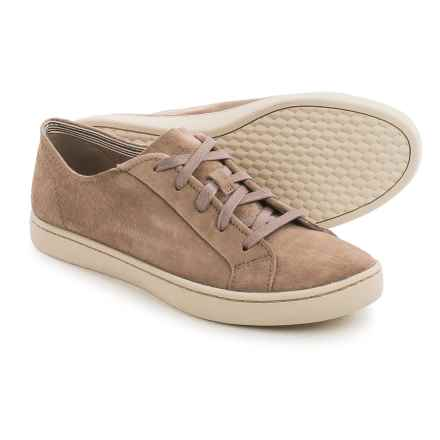 Hush Puppies Ekko Gwen Sneakers - Leather (For Women) in Taupe Suede - Closeouts