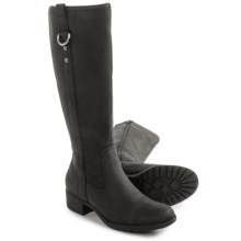 Hush Puppies Emel Overton Leather Boots - Waterproof, Insulated (For Women) in Black - Closeouts