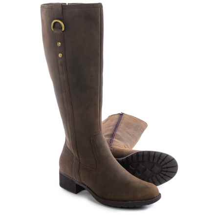 Hush Puppies Emel Overton Leather Boots - Waterproof, Insulated (For Women) in Dark Brown - Closeouts
