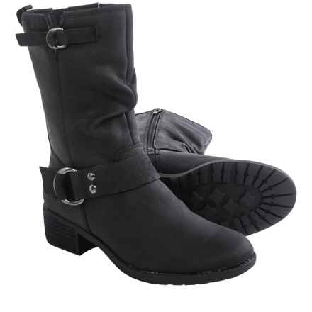 Hush Puppies Emelee Overton Leather Boots - Waterproof, Insulated (For Women) in Black - Closeouts