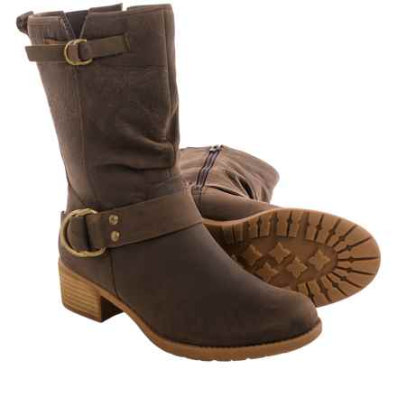 Hush Puppies Emelee Overton Leather Boots - Waterproof, Insulated (For Women) in Dark Brown - Closeouts