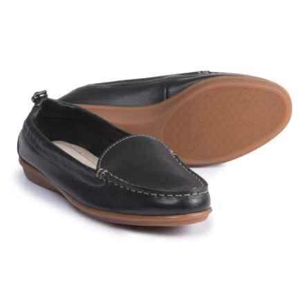 Hush Puppies Endless Wink Loafers - Leather (For Women) in Black Leather - Closeouts