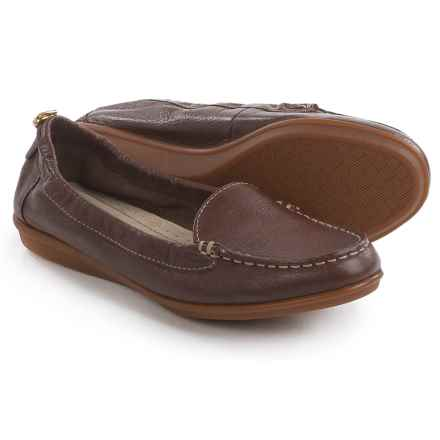 Hush Puppies Endless Wink Loafers - Leather (For Women) in Chocolate Leather - Closeouts