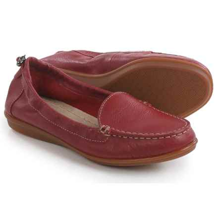 Hush Puppies Endless Wink Loafers - Leather (For Women) in Red Leather - Closeouts