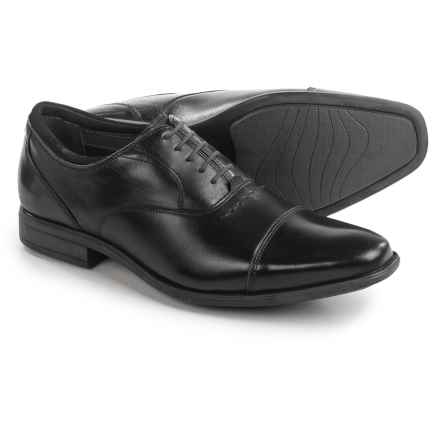 Hush Puppies Evan Maddow Oxford Shoes - Leather, Cap Toe (For Men) in Black - Closeouts