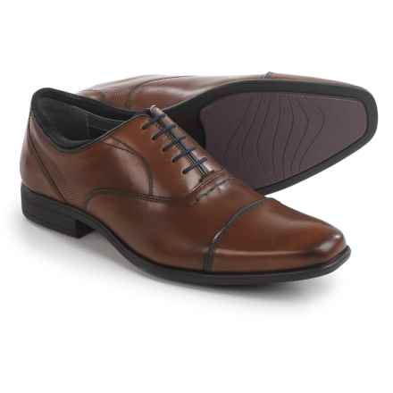 Hush Puppies Evan Maddow Oxford Shoes - Leather, Cap Toe (For Men) in Tan - Closeouts