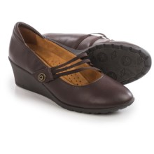 Hush Puppies Finn Rowley Mary Jane Shoes - Leather (For Women) in Dark Brown - Closeouts