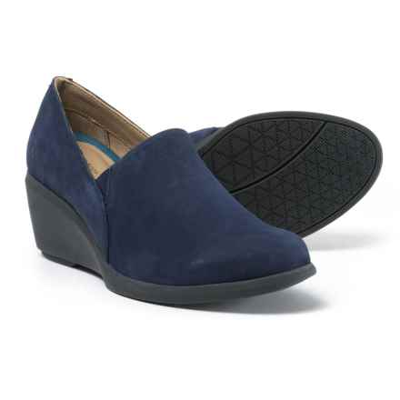 Hush Puppies Fraulein Mariya Wedge Shoes - Leather (For Women) in Royal Navy - Closeouts