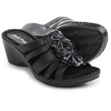 Hush Puppies Gallia Copacabana Wedge Sandals - Leather (For Women) in Black Leather - Closeouts