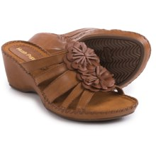 Hush Puppies Gallia Copacabana Wedge Sandals - Leather (For Women) in Tan Leather - Closeouts