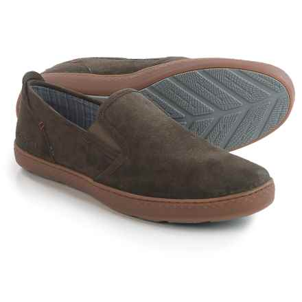 Hush Puppies Goal Roadcrew Shoes - Suede, Slip-Ons (For Men) in Grey Suede - Closeouts