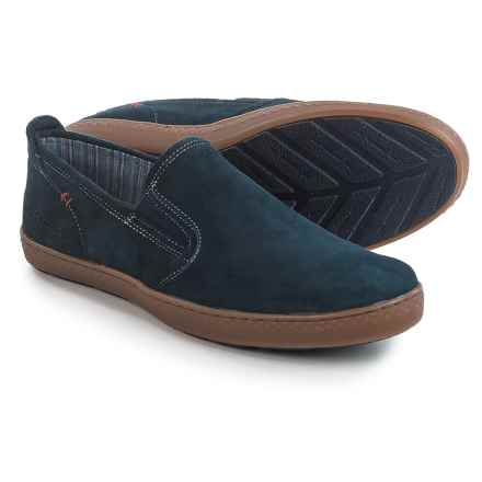 Hush Puppies Goal Roadcrew Shoes - Suede, Slip-Ons (For Men) in Navy Suede - Closeouts