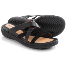 Hush Puppies Golva Keaton Sandals - Leather (For Women) in Black Leather/Suede - Closeouts