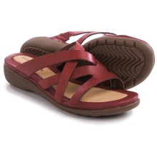 Hush Puppies Golva Keaton Sandals - Leather (For Women) in Dark Red Leather - Closeouts
