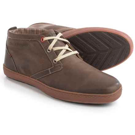 Hush Puppies Gresham Roadcrew Chukka Boots - Leather (For Men) in Dark Brown Leather - Closeouts