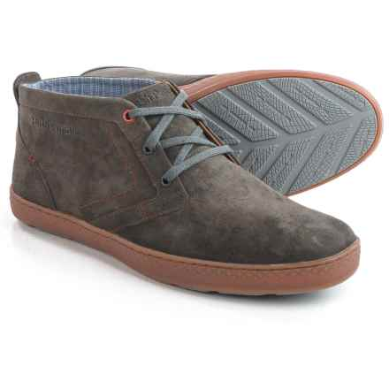 Hush Puppies Gresham Roadcrew Chukka Boots - Leather (For Men) in Grey Suede - Closeouts