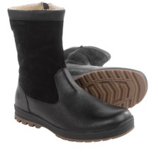 Hush Puppies Gunner Abbott Leather Boots - Waterproof, Insulated (For Men) in Black Leather - Closeouts