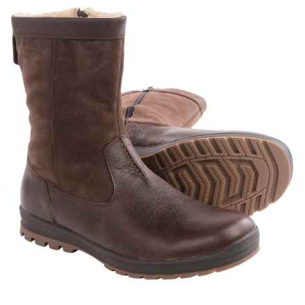 Hush Puppies Gunner Abbott Leather Boots - Waterproof, Insulated (For Men) in Brown Leather - Closeouts