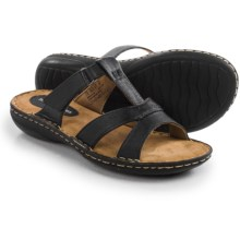 Hush Puppies Heidi York IIV Sandals - Leather (For Women) in Black - Closeouts