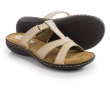 Hush Puppies Heidi York IIV Sandals - Leather (For Women) in Cream - Closeouts